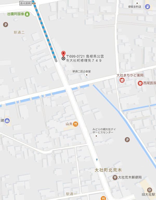 吉兆館・旧大社駅駐車場