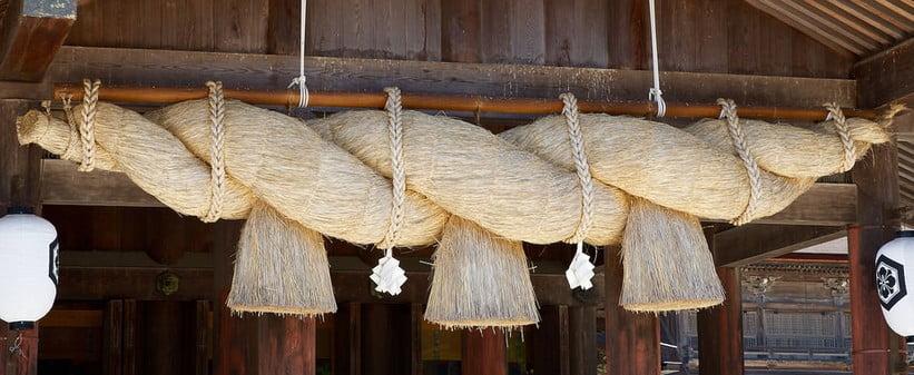 出雲大社の神楽殿のしめ縄の向きについて