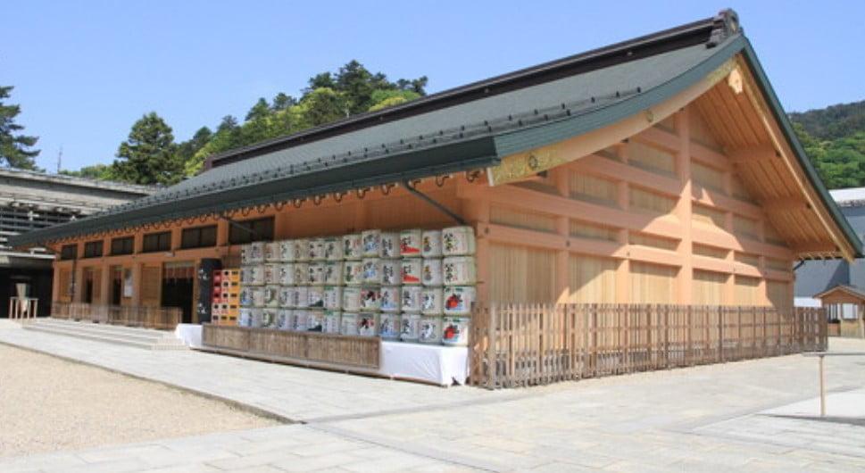出雲大社(IZUMO-OYASHIRO)・仮拝殿(KARIHAIDEN)