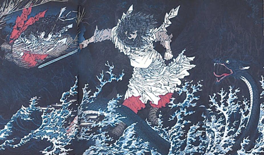 八俣遠呂智とスサノオの戦い