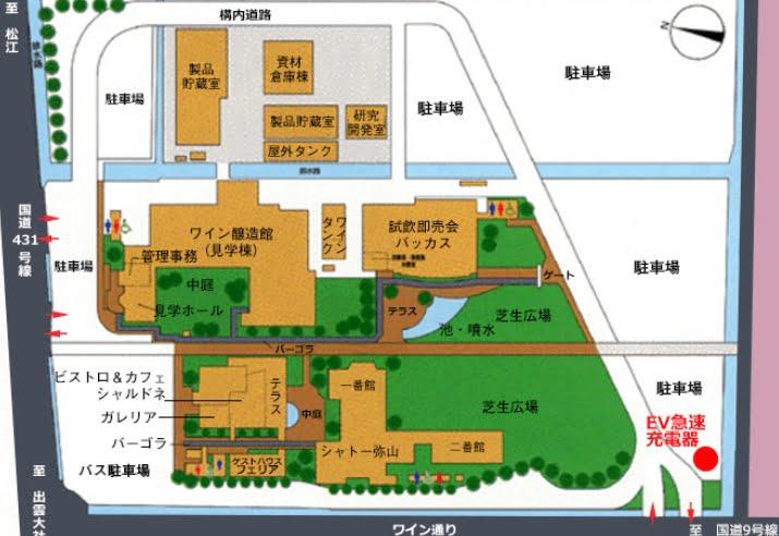 島根ワイナリーのMAP地図