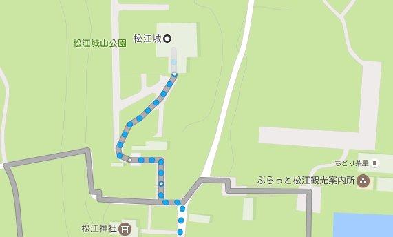 松江城ぶらっと観光案内所の場所
